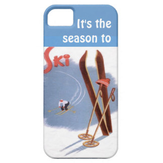 Winter sports - SIts the season to ski iPhone 5 Covers