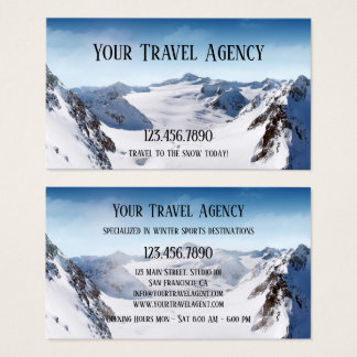 Winter Sports Travel Agency Business Card