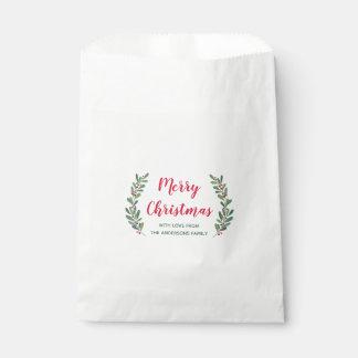Winter Sprigs Christmas Favour Bag