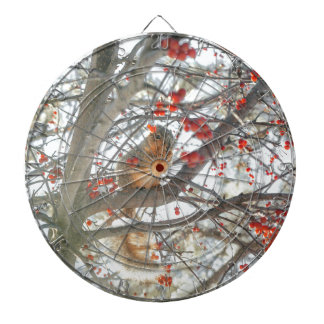 Winter Squirrel In Berry Tree Dartboard With Darts