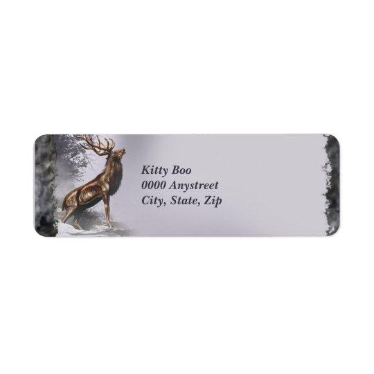 Winter Stag Return Address Label