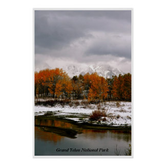 WINTER STORM AT OXBOW BEND POSTER