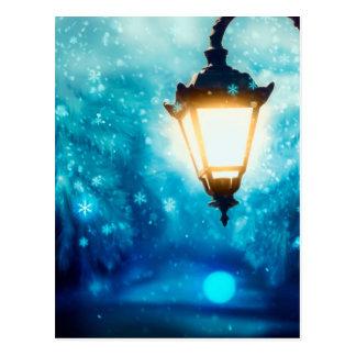 Winter Street Lamp 2 Postcard