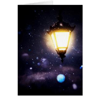 Winter Street Lamp Card
