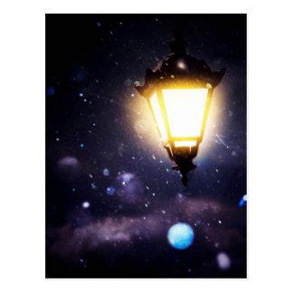 Winter Street Lamp Postcard