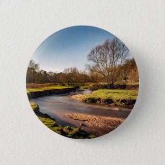 Winter Stroll Along The River Bollin 6 Cm Round Badge