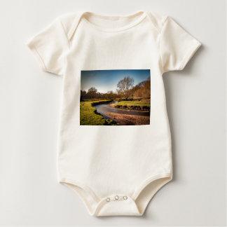 Winter Stroll Along The River Bollin Baby Bodysuit