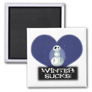 winter sucks emo snowman magnet