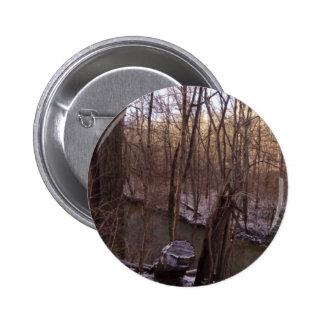 Winter Sugar Creek (from higher up) 6 Cm Round Badge