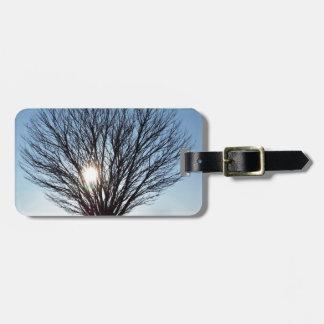 winter sun luggage tag