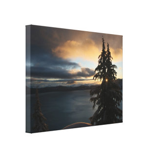 Winter Sunrise at Crater Lake Canvas Print
