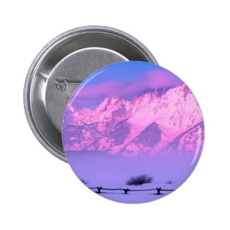 Winter Sunrise Grand Teton Wyoming Pinback Buttons