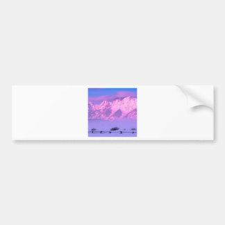 Winter Sunrise Grand Teton Wyoming Bumper Sticker