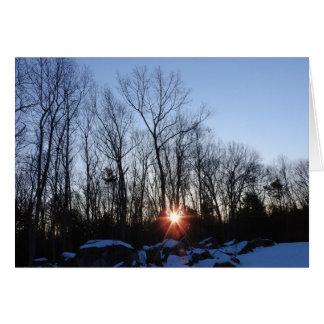 Winter Sunrise Greeting Card, Blank Inside Card