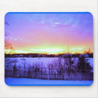 winter sunrise mouse pad