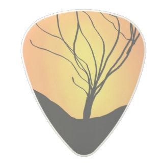 Winter Sunrise Polycarbonate Guitar Pick