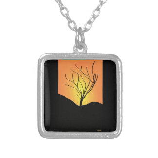 Winter Sunrise Silver Plated Necklace