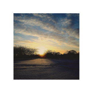 Winter Sunrise Wood Prints