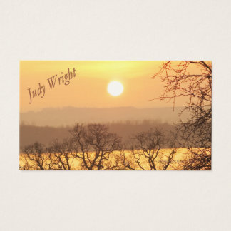 Winter Sunset Business Card