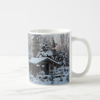 Winter Sunset Country Cottage Coffee Mug
