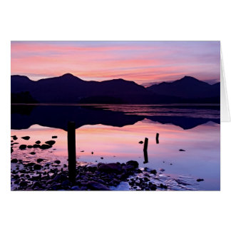 Winter sunset -  Derwentwater, The Lake District Greeting Card