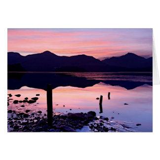 Winter sunset -  Derwentwater, The Lake District Greeting Card