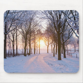 Winter Sunset Mouse Pad