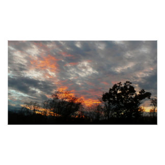 Winter Sunset Nature Landscape Photography Poster
