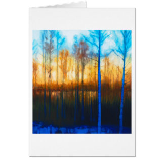 Winter Sunset on Lake Siljan Card