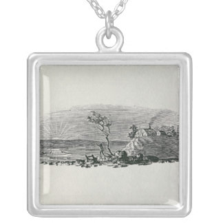 Winter Sunset Silver Plated Necklace