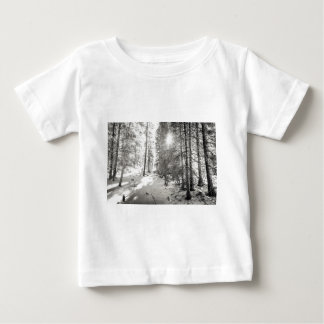 Winter Sunshine Forest Shades Of Gray Baby T-Shirt