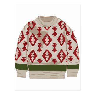 Winter Sweater Postcard