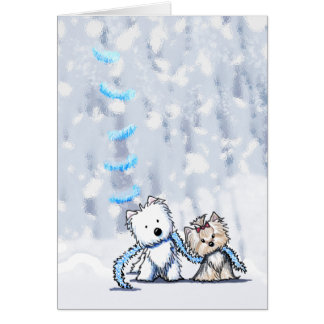 Winter Terrier Greeting Cards