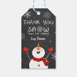 Winter thank you Snow much favor tags Snowman red