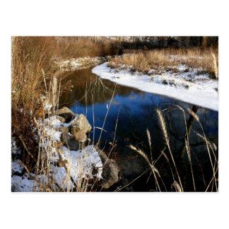 winter @ the stream postcard
