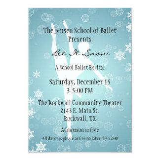 Winter Themed Ballet Dance Recital Invitation