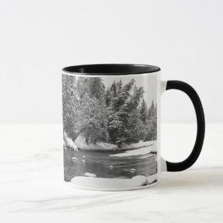Winter Themed, Black And White Beautiful Frozen Ri Mug