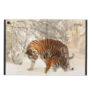 Winter Tigers custom monogram device cases