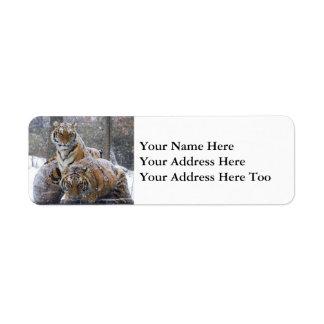 Winter Tigers Return Address Label