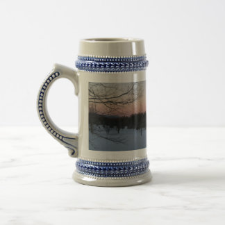 Winter Time In NH Beer Stein