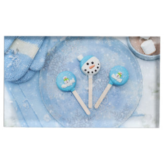 Winter Time Treats and Goodies Table Card Holder
