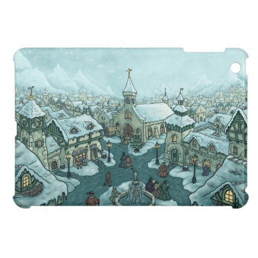winter town holiday case for the iPad mini