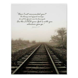 Winter Tracks Scene and Scripture 11x14 Poster