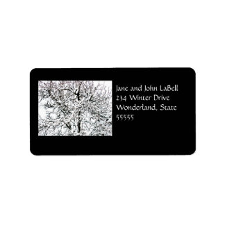 Winter tree Address Label