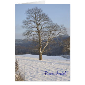 winter tree French New Year card