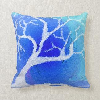 Winter tree pillow cushion