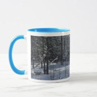Winter Tree Scene in Early Morning Mug