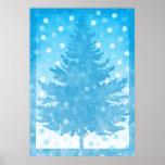 Winter Tree watercolor Christmas