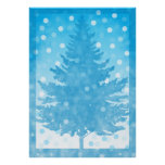Winter Tree watercolor Christmas Poster
