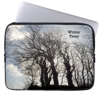 Winter Trees along a Country Lane Cornwall England Laptop Sleeve